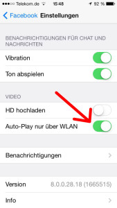 Facebook Videos Autoplay iPhone